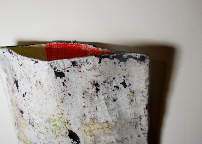 Pocket detail, mixed media sculpture, 2015