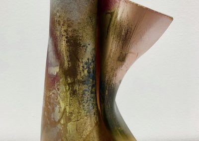 Unfurl, formed acrylic sheet ant spray paint, approx. 20x7 cm, 2018